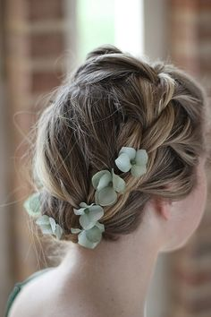 hair ,flower..