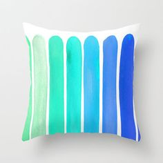 Ocean Blue Throw Pillow by Sara Eshak from Society6