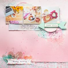 #papercrafting #scrapbook #layout - Monday Mornings by Antilight at @Studio_Calico