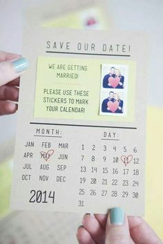 Save the date, love this, could DIY