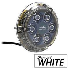 Bluefin LED Piranha P6 Surface Mount Underwater LED Light - 2100 Lumens - Diamond White
