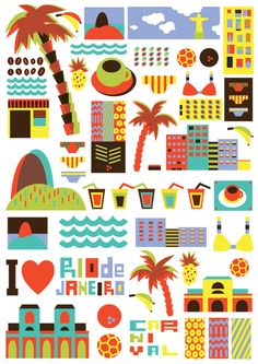 I Love the World, A Series of Travel Posters That Illustrate World Cities Using Simple Graphics