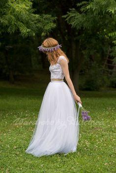 Bridal Dream   tulle skirt  / white tulle by WardrobeByDulcinea