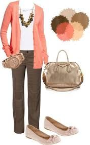 Image result for what to wear with dark brown pants female