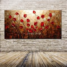 Hand Painted Thick Palette Knife Flower Oil Painting on Canvas Abstract Wall Painting Living Room Home Wall Decor Oil Painting Flowers, Oil Painting Abstract, Texture Painting, Abstract Canvas, Hand Painting Art, Canvas Wall Art, Knife Painting, Canvas Paper, Oil Paintings