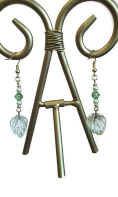 Green Leaf 2 3/8 inch Drop Dangle Earrings by bellelaroseboutique