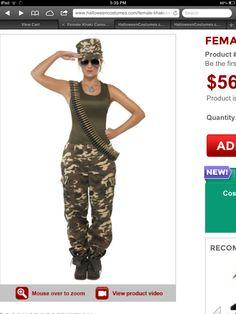 Halloween costume soldier!