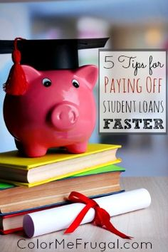Sick of those student loans you have that are still hanging around? Here are 5 great tips for paying those student loans off faster!