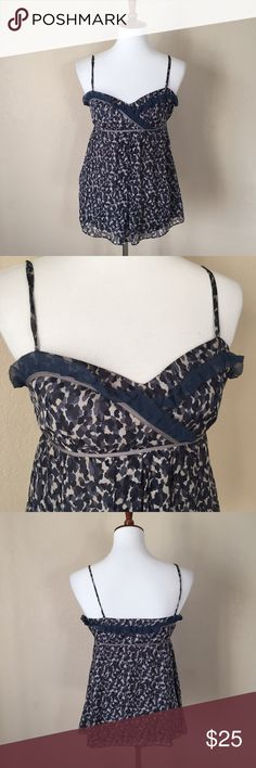 {Cynthia Steffe} Silk Floral Ruffle Tank Blouse Used in excellent condition. No Trades / No PayPal /  Smoke-Free Home / Ask Questions! / No Model Requests Please / Like what you see but dont like the price? MAKE ME AN OFFER! Cynthia Steffe Tops Tank Tops