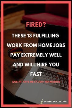 Out of a job? Here's 13 fulfilling work from home jobs that pay extremely well and will hire you fast. Does making a liveable income online sound good to you? These are the 13 best work from home jobs that hire fast and pay good in Work From Home Companies, Online Jobs From Home, Work From Home Opportunities, Online Work, Legit Work From Home, Work From Home Jobs, Earn Money From Home, Way To Make Money, Extra Money
