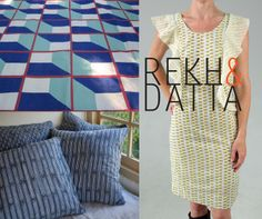 Rekh & Datta: Light cotton clothing and housewares that combine the ancient craft of Indian block printing with contemporary design.