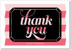 Signature White Thank You Cards - Diamond Night by Wedding Paper Divas