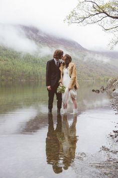 Wedding in the wilderness- Helen & Andy Lake District Wedding on @Kat Williams