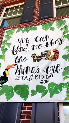 Zeta Chapter had a safari-themed Bid Day
