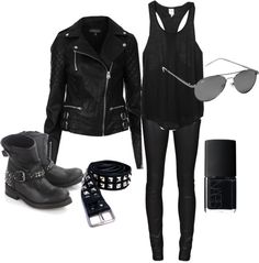 """Biker Chick"" by doglover98-1 on Polyvore"