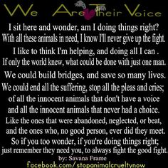 We are their voice!