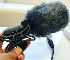 Gonna be a breezy one today. Got the @azdenproaudio #SGM250CX covered up with the #SWSCX furry windshield for on-camera use. Shell be going on the #GH5 today. Love the quality and performance of this tiny little mic! . #azden #shotgunmic