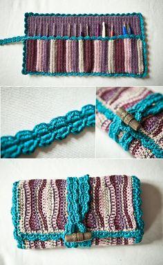 Crochet Hook Case. Toggle strap closure is neat.