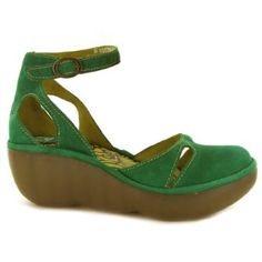Amazon.com: Fly London Bessie Green Leather Womens Shoes: Shoes