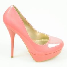 Salmon coloured heels for the morning @Wendy Moh ?  [DESIGNER PUMPS PLATFORM STILETTO HIGH HEELS PATENT HOT SALMON PINK EVENING PARTY | eBay]