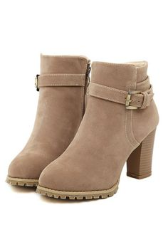 Street-chic Faux Suede Ankle Boots - OASAP.com