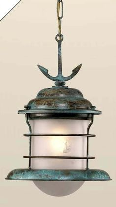 Fredeco Hanging Nautical Pendant With Anchor Fredeco Lighting Nautical Pendant Light