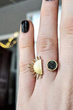 eclectic gifts for her boho Gemstone Charm Bracelet Set Gold Pompoms Wine /& Grey Pompom