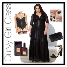 Dark Night by curvygirlclass on Polyvore featuring polyvore, fashion, style, Kiyonna, Ashley Graham, Steve Madden, La Regale, Tom Ford, women's clothing, women's fashion, women, female, woman, misses and juniors