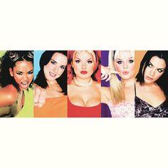 Spice Girls - Spice World promotional photos. Melanie C, Actress Emma Stone, Emma Bunton, Geri Halliwell, Spice Girls, Victoria Beckham, Girl Power, Actresses, Group