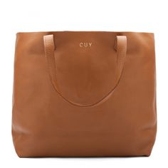 Cuyana Monogrammed Leather Caramel Tote- $150 http://www.cuyana.com/leather-tote-short-caramel.html