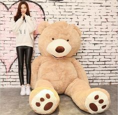 Cheap bear toy, Buy Quality bear doll directly from China teddy bear doll Suppliers: Plush Bear Toys American Giant Bear Stuffed Teddy Bear Doll Good QualitySoft Toys For Birthday Gift And Valentine's Day Teddy Bear Coat, American Giant, Bear Doll, Plush Animals, Toys For Girls, Cool Things To Buy, Birthday Gifts, Valentines, Dolls
