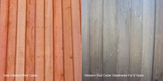 How Western Red Cedar looks when it ages