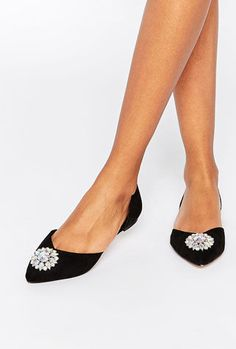 a11dfd369ae ASOS LANDMARK Wide Fit Embellished Ballets Ballet Flats