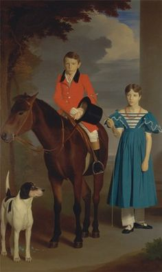 John Gubbins Newton and His Sister, Mary Newton  Date ca. 1833
