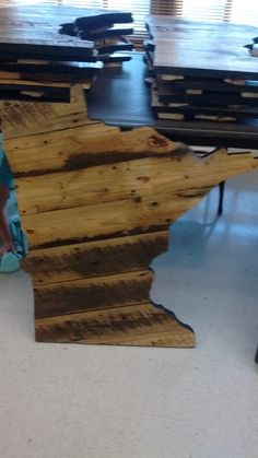 Minnesota Sign made from old barn wood.
