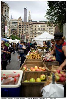 Union Square Greenmarket. Foto de Nicole Franzen en Pinterest