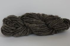 Super Bulky  Thick and Thin  Core Spun  Heather  Brown/ Gray  Wool Yarn