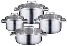 ELO Premium Multilayer Stainless Steel Kitchen Induction Cookware Pots and Pans Set with Multilayer Heating System, Easy-Pour Rim, Integrated Measuring Scale and Glass Lids, 8-Piece *** Startling review available here  : Cookware Sets