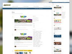Webseite, responsive, Blog