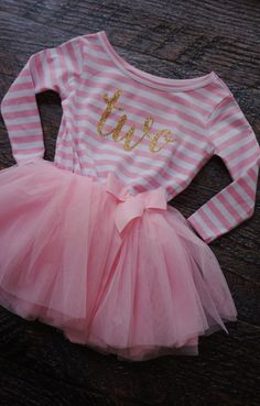 a9d1112a4 Little Girls Toddler Two 2 year old Birthday Dress - Pink   White ...