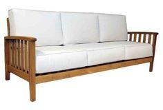 """Monaco 81"""" Outdoor Sofa, Canvas"""