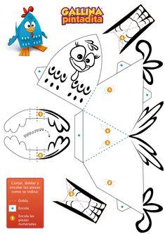 Paper Toy - Gallina Pintadita