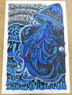 Original silkscreen concert poster for The String Cheese Incident at The Fox Theatre in Atlanta in 2003. Signed and numbered AP edition numbered 40 of only 50 by the artist Jeff Wood.  Artist Proof edition.