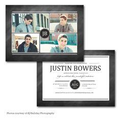 Nivora - Graduation Announcement card template available through Jen Boutet Photography with your senior portrait session in Charlottesville, Va. www.jenboutet.com