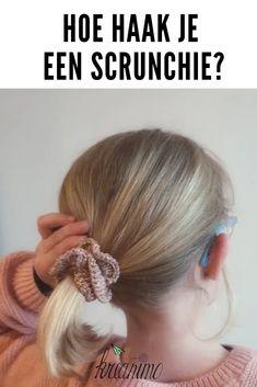 Hoe haak je een scrunchie stap voor stap. #haken #scrunchie Craft Work