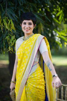 cute in Saree #saree #sari #blouse #indian #outfit #shaadi #bridal #fashion #style #desi #designer #wedding #gorgeous #beautiful