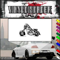 Motorcycle Sketch Wall Decal - Vinyl Decal - Car Decal - CD007