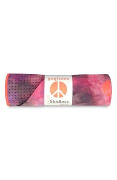 American Buddha by Yogi Yogitoes 'Groovy' Skidless Yoga Mat Towel available at #Nordstrom
