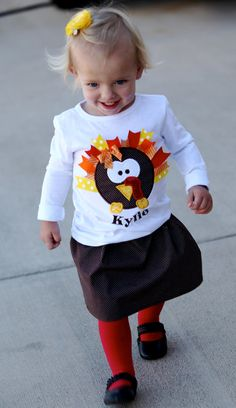 another cute turkey shirt using ribbon