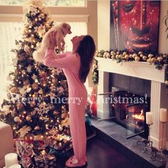 Shay Mitchell celebrates Christmas with her dog Bailey